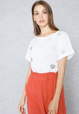 Embellished Kiss T-Shirt