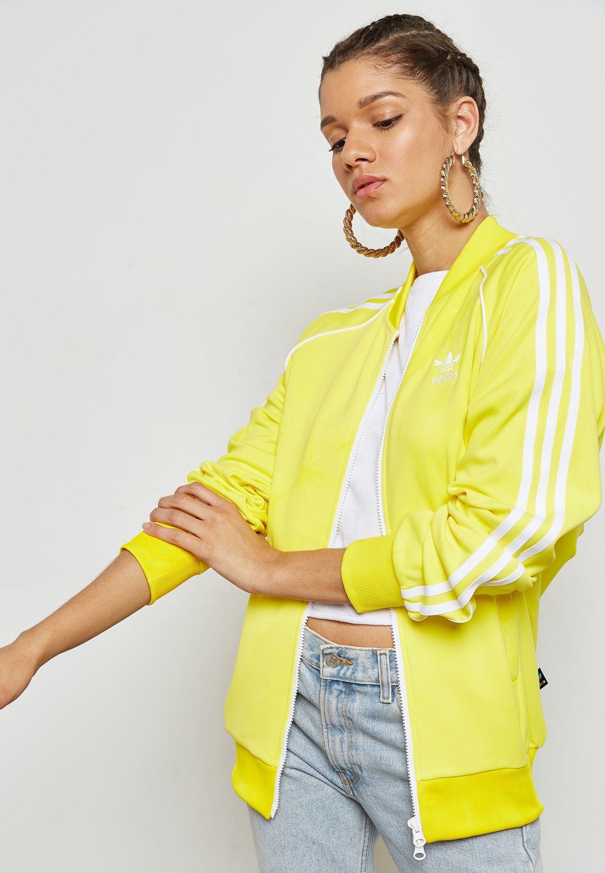 a0c94fdc4 Shop adidas Originals yellow Pharrell Williams Hu Holi Track Jacket ...