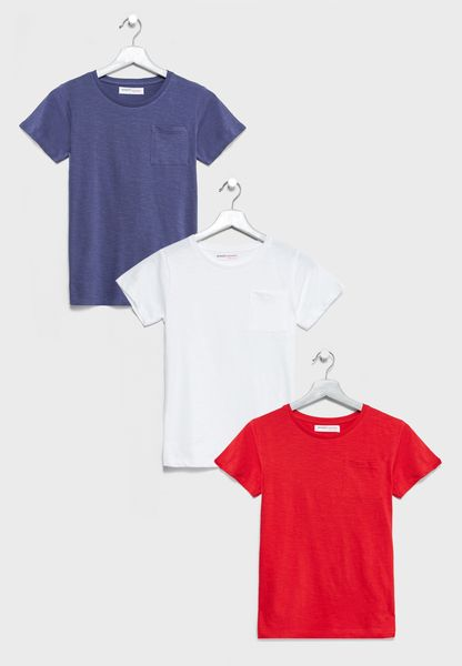 Little 3 Pack Basic T-Shirts