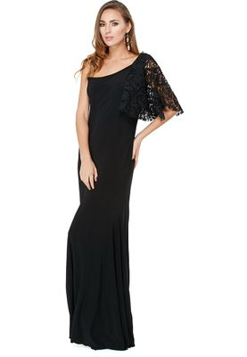Anaya One Shoulder Lace Sleeve Dress