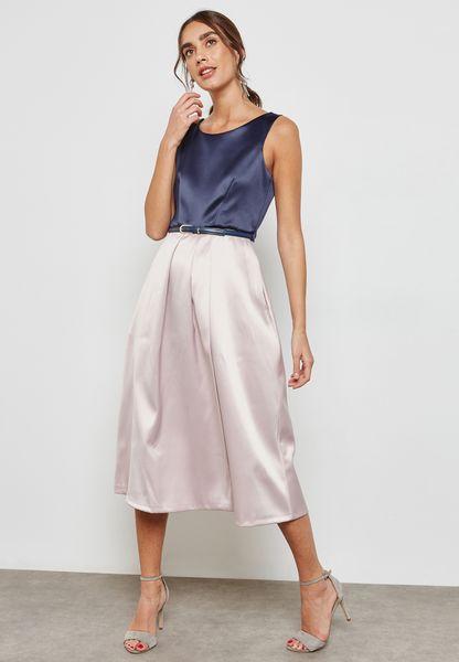 2 Tone Midi Dress