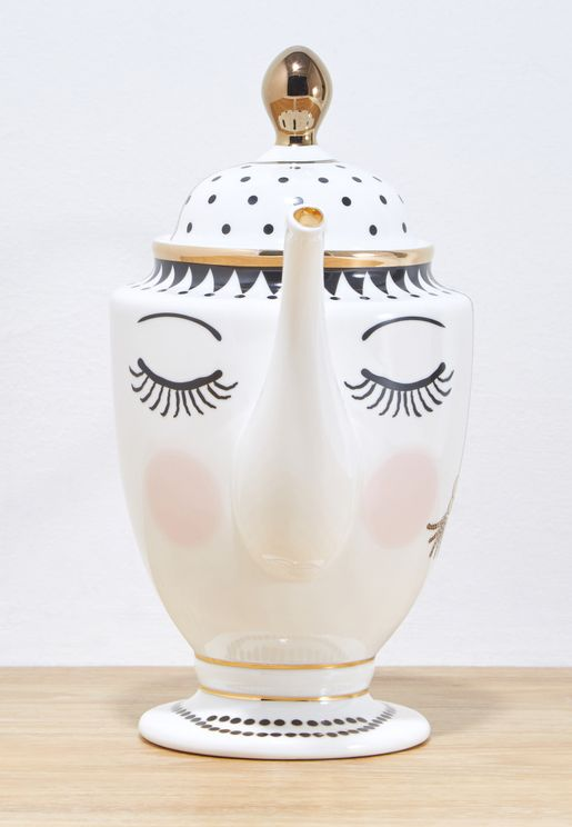 Eyes And Dotted Tea Coffee Pot