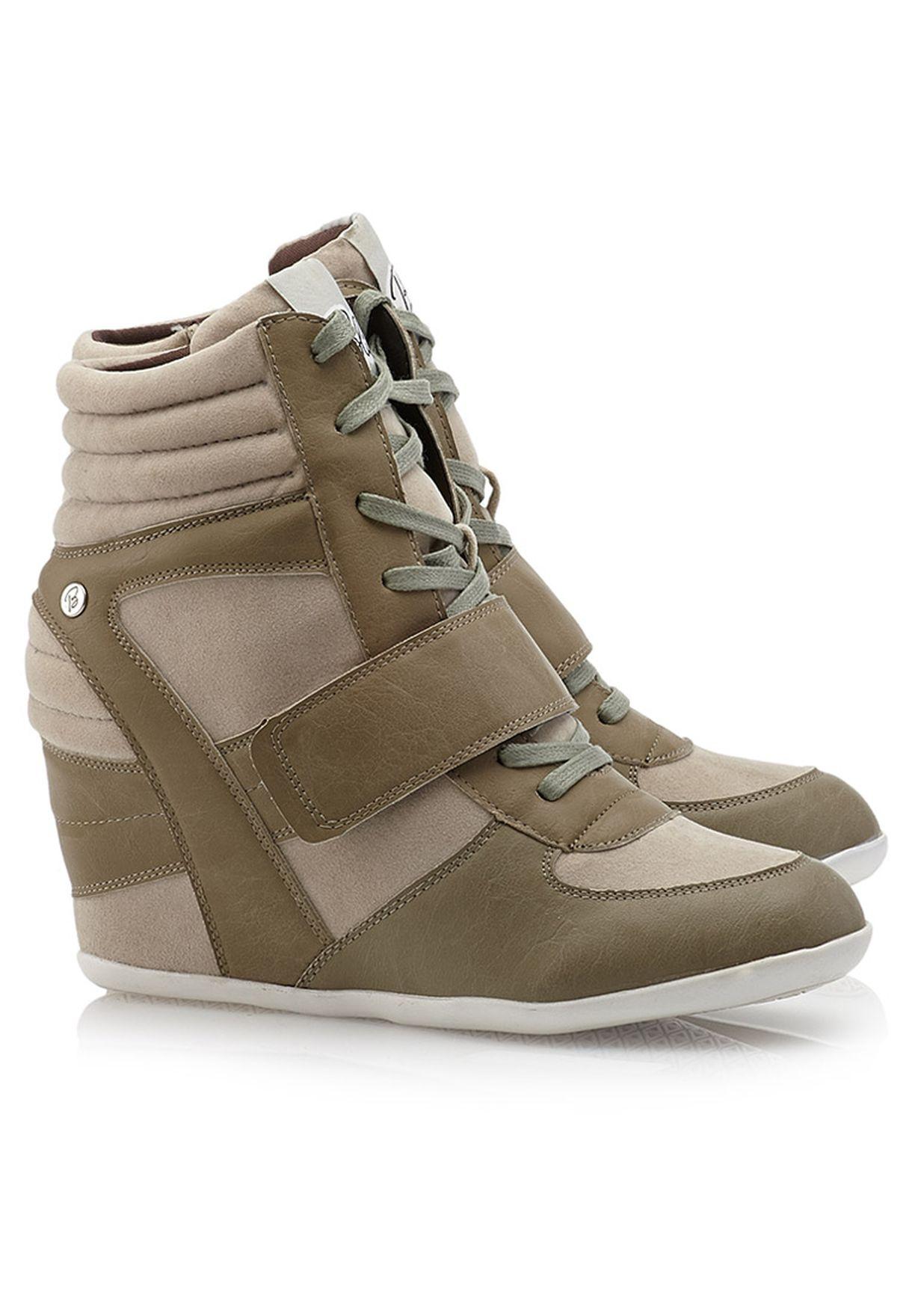 f4d977bc366 Shop Blink beige Trendy Wedge Sneakers for Women in Kuwait - BL768SH55UHO