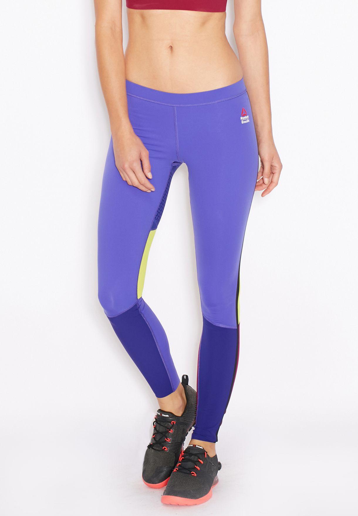 2f5b641cea Shop Reebok purple CrossFit Compression Tights AP9190 for Women in ...