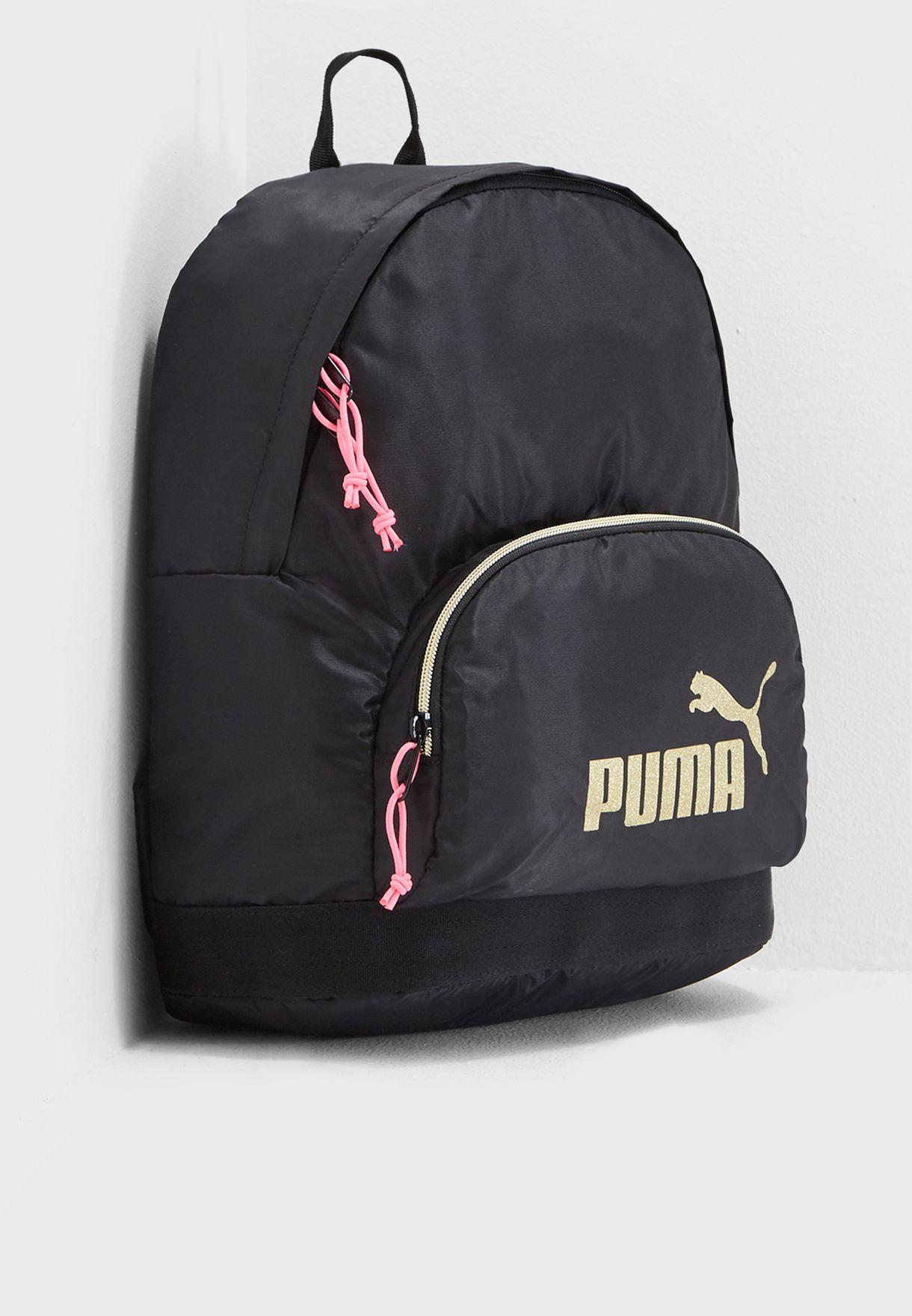 38946b4eb2be Shop PUMA black Core Seasonal Backpack 7539701 for Women in UAE ...
