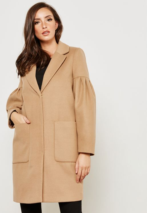 Balloon Sleeve Coat