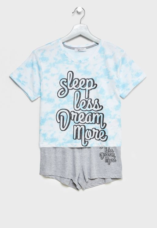 Teen T-Shirt + Pyjama Shorts Set