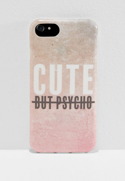 Cute But Psycho iPhone 6/7/8 Hybrid Case