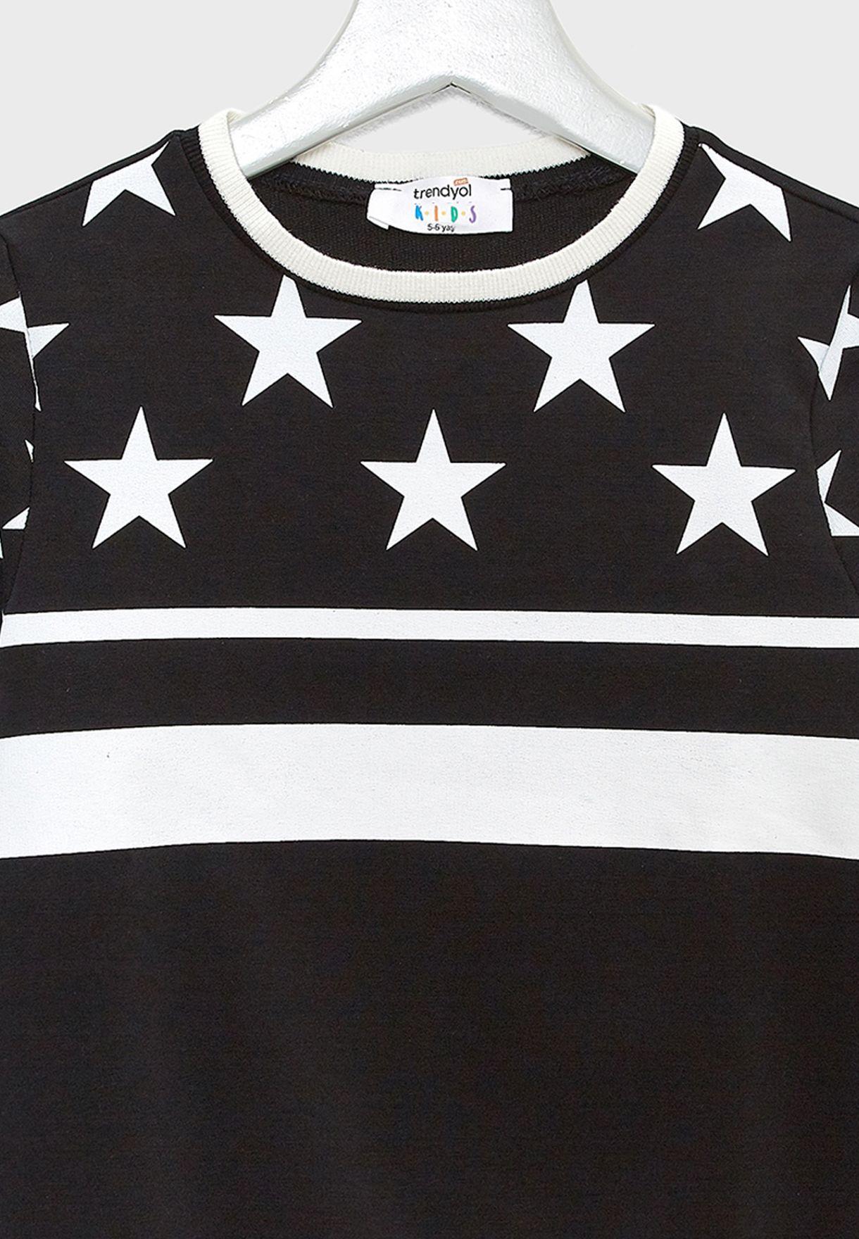 Little Star Print Sweatshirt