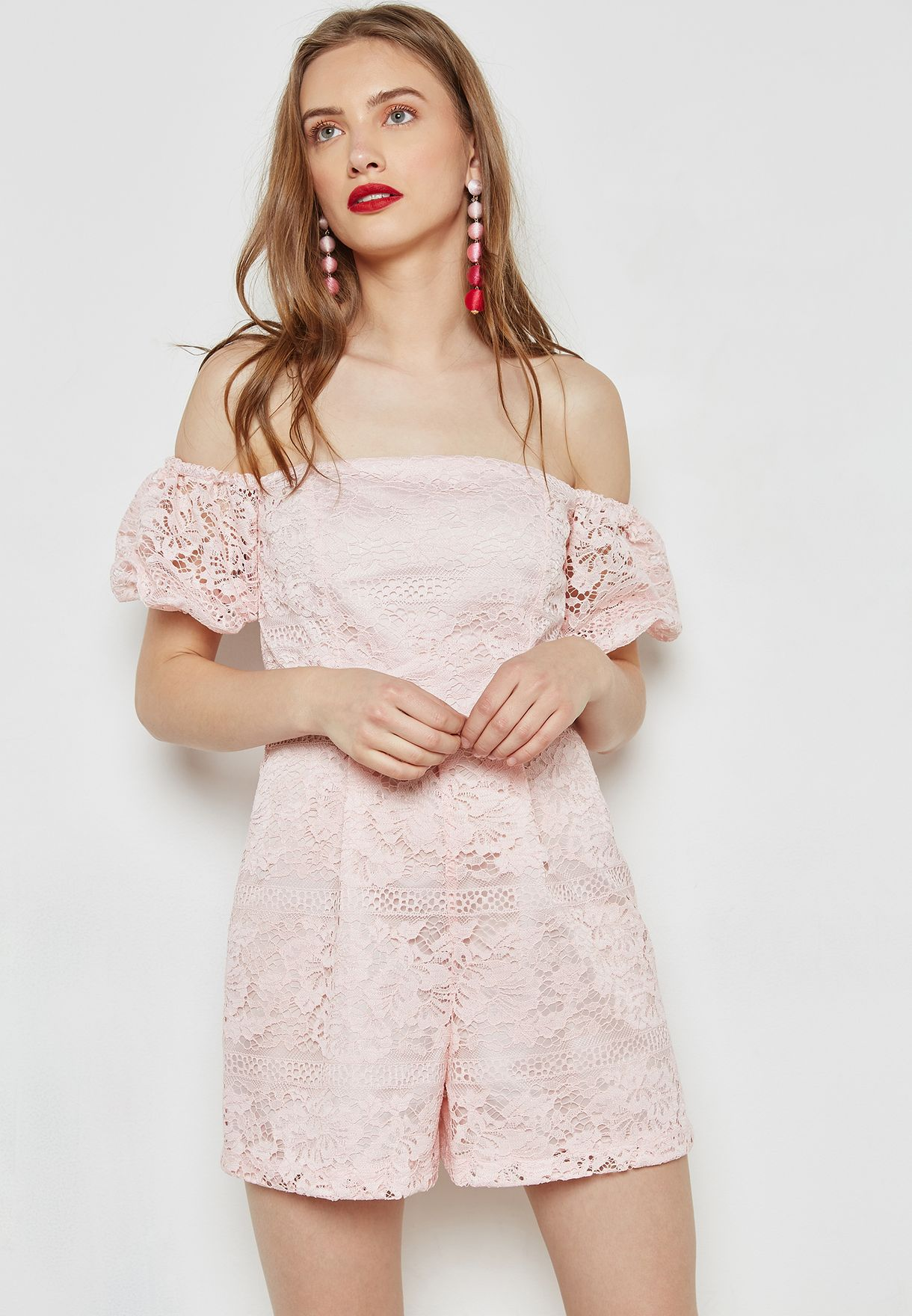 Bardot Womens Lacey Playsuit