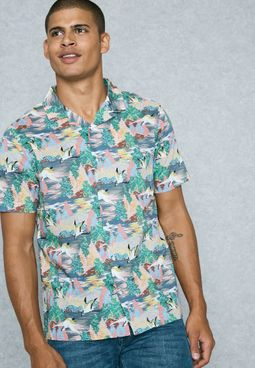 Heron Print Shirt