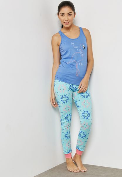 Printed Vest & Pyjamas Set