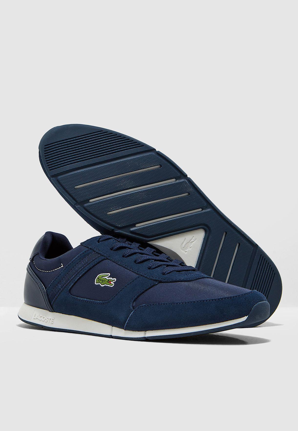 e840afd41 Shop Lacoste navy Menerva Sport Sneakers 36CAM0054ND1 for Men in ...