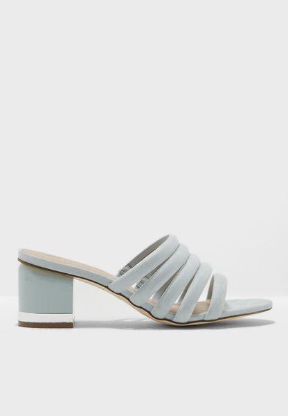 Mid Heel Mule Sandal