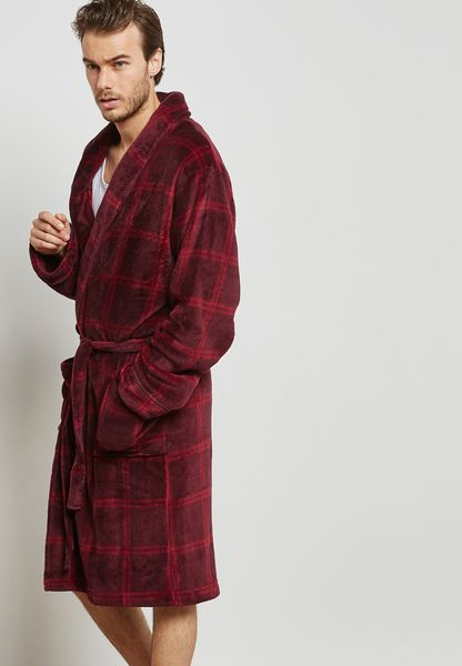 Supersoft  Check Print Robe