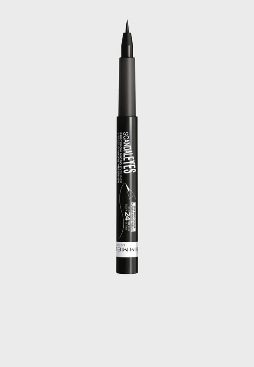 Scandal Eyes Precision Micro Eyeliner- 001 Black