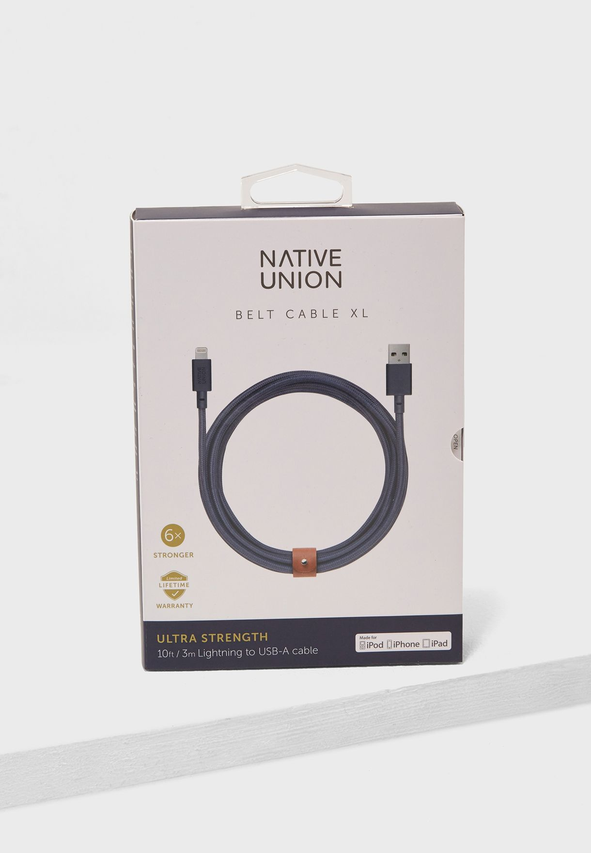 3 Mtr Lightning Cable With Cable Belt