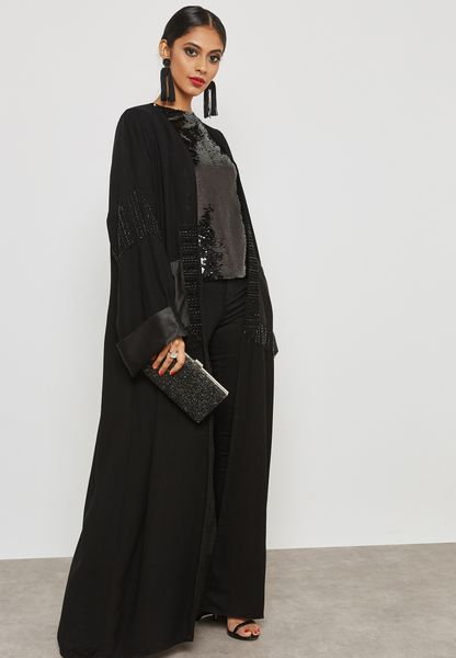 Embellished Pocket Detail Abaya
