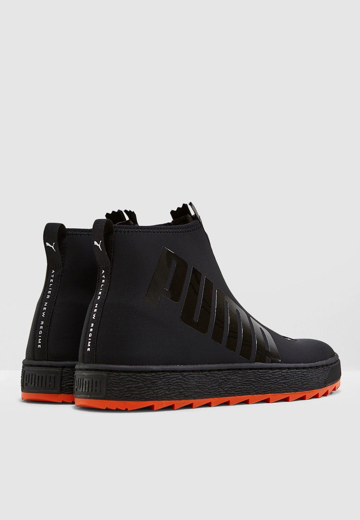 911b102ea01b Shop PUMA black Atelier New Regime Basket Boot 36653502 for Men in ...