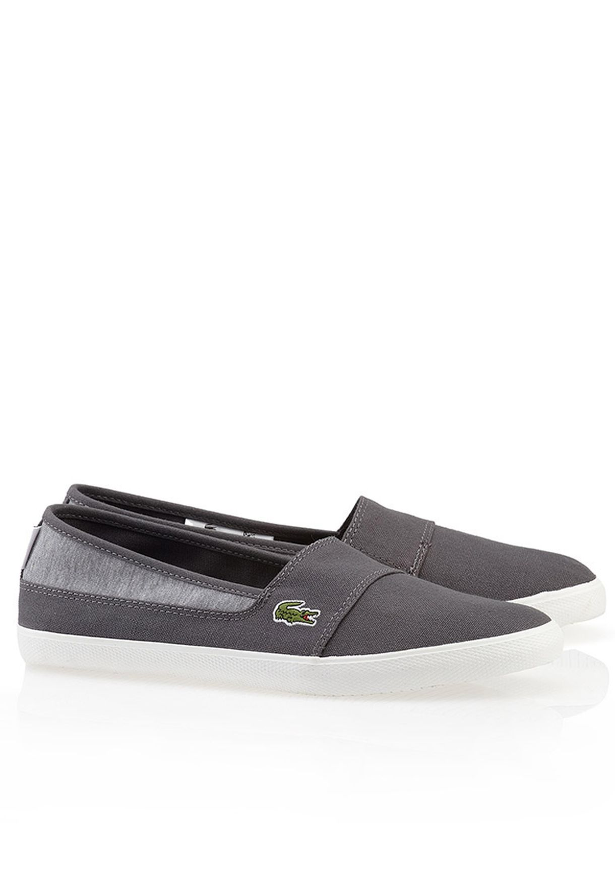 ac077694f5bea Shop Lacoste grey Marice ABB Slip Ons 27SPW0112-17C for Women in UAE ...