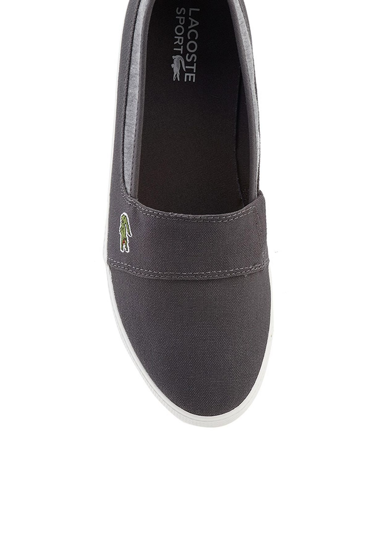 29cc4ff5a9314 Shop Lacoste grey Marice ABB Slip Ons 27SPW0112-17C for Women in ...