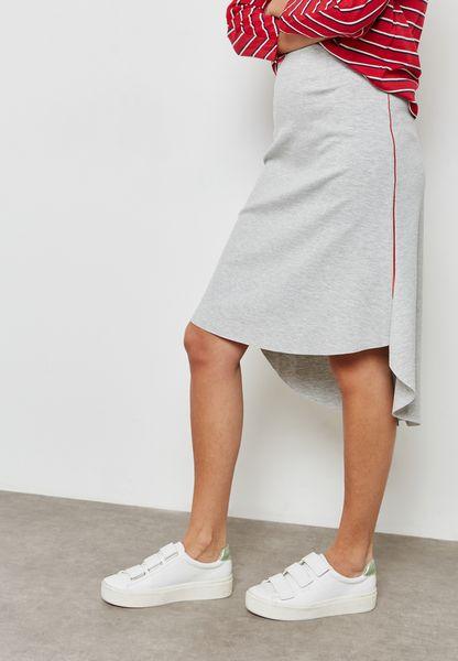 Asymmetric Hem Skirt