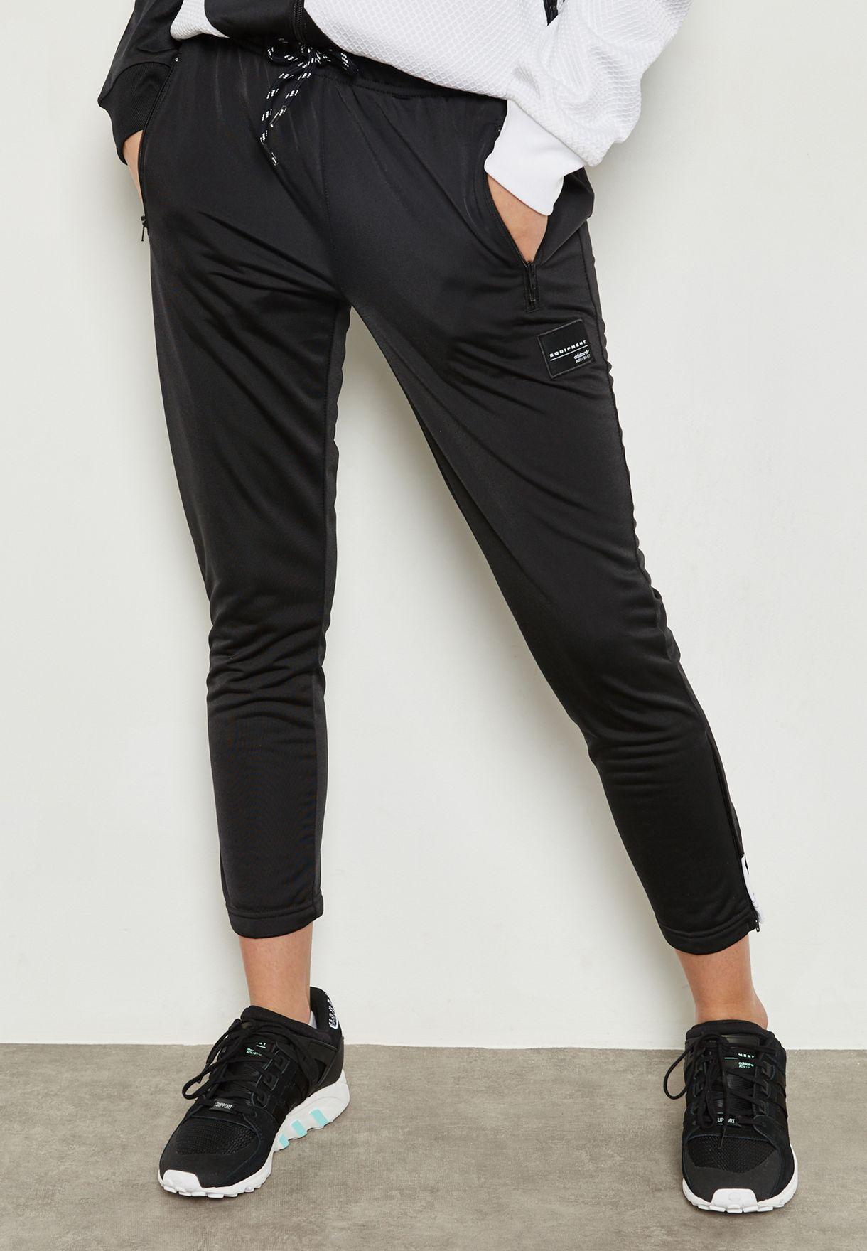bcd57b388954 Shop adidas Originals black EQT Cigarette Sweatpants BP9283 for ...