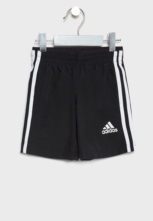 Kids 3 Stripe Long Shorts