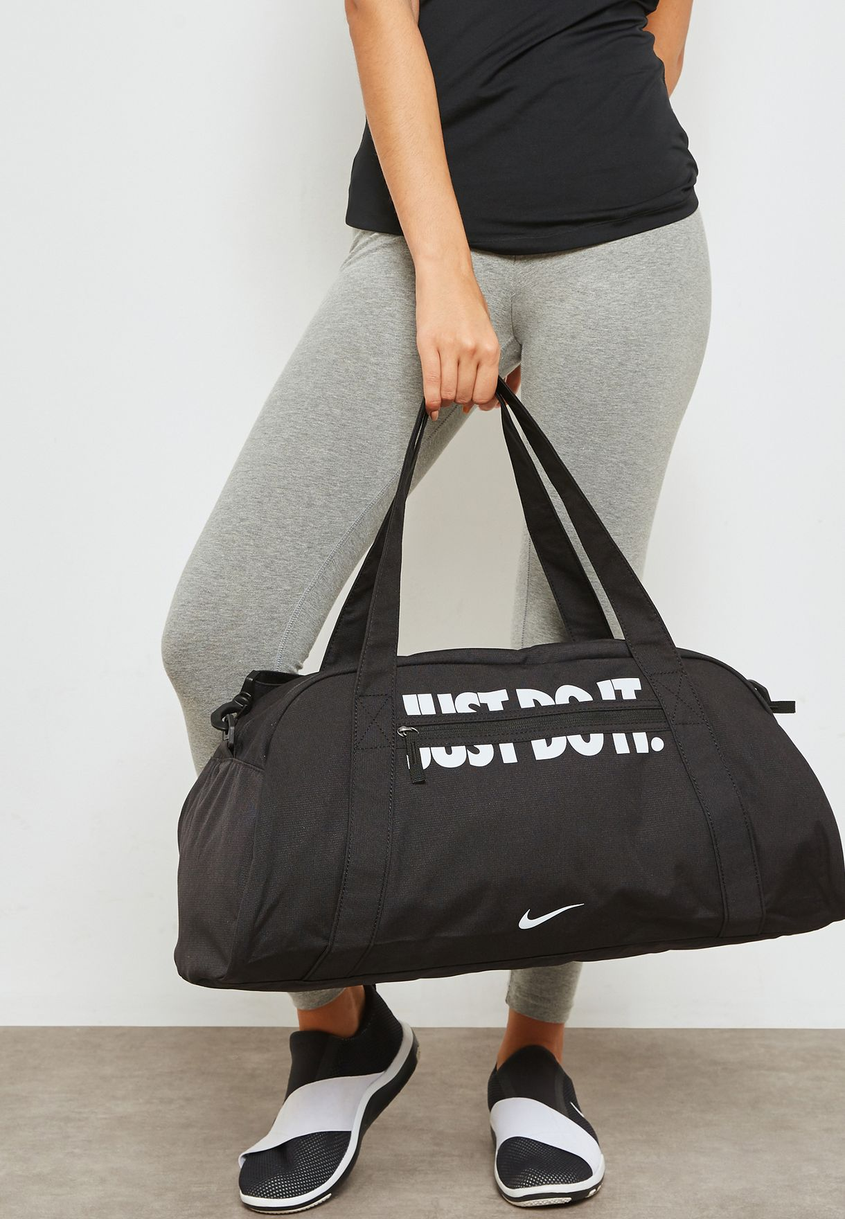 b1e0249254bc Shop Nike black Gym Club Duffel BA5490-016 for Women in Oman ...