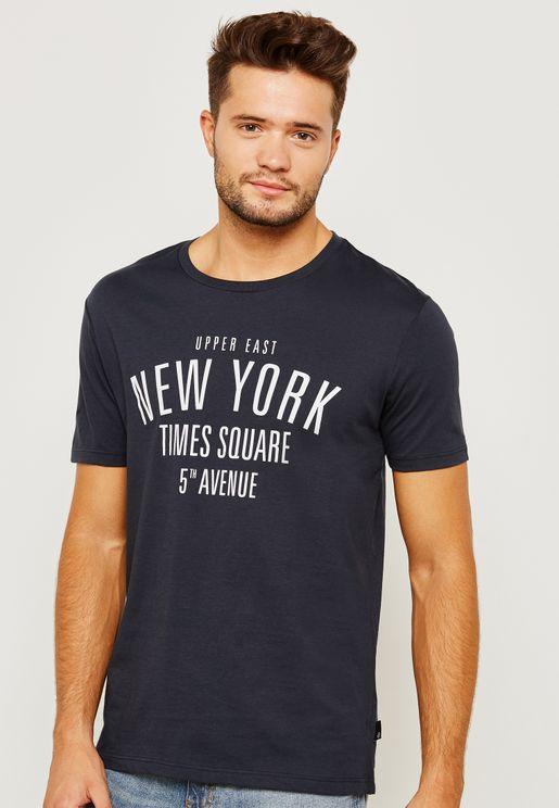 City Print Crew Neck T-Shirt