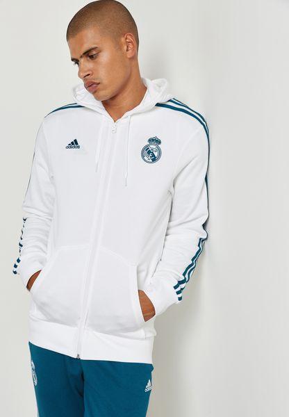 Real Madrid 3 Stripe Hoodie