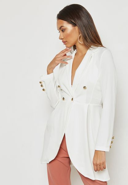 Double Breasted Detail Blazer