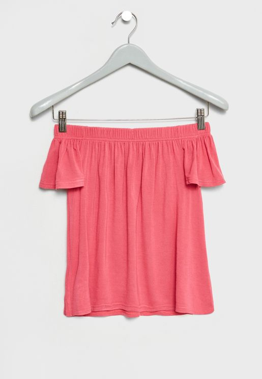 Wide Sleeve Pleated Top