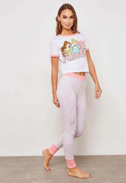 Printed Short Sleeve T-Shirt & Leggings Set