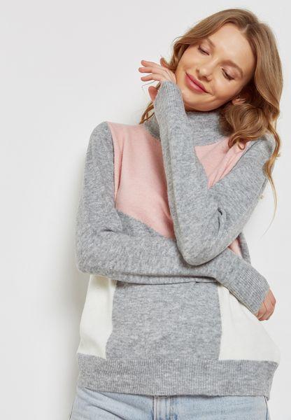 High Neck Colourblock Sweater