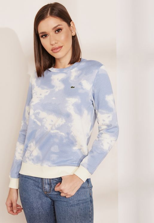 Textured Print Sweatshirt