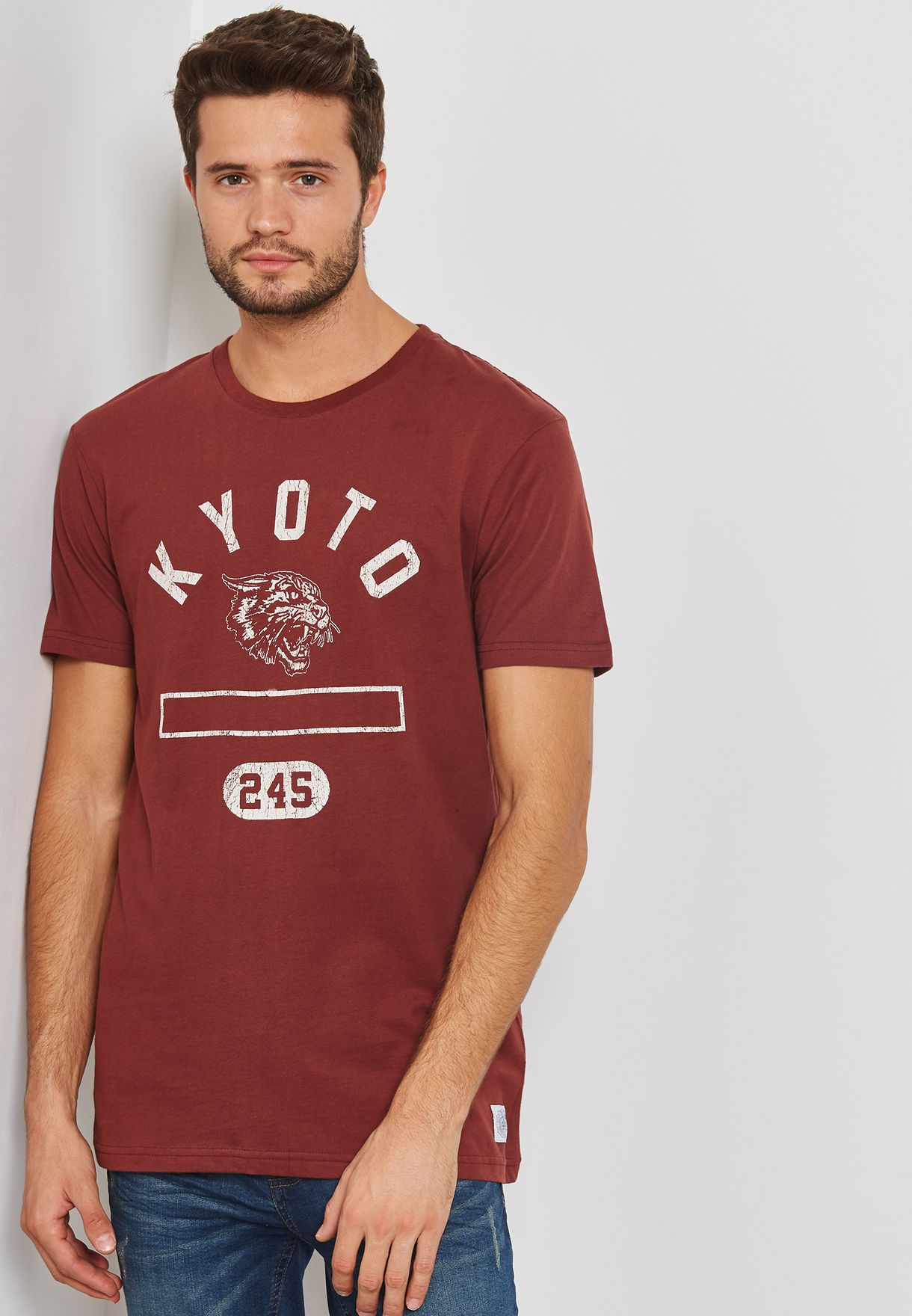 2f8d70a0 Shop Cotton On red Tbar T-Shirt 363020-191 for Men in Bahrain ...