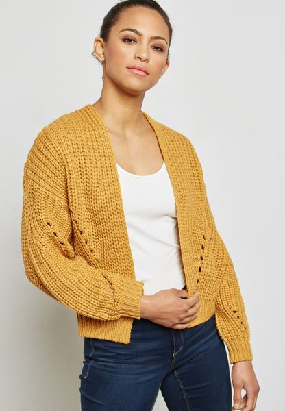 Ballon Sleeve Cardigan