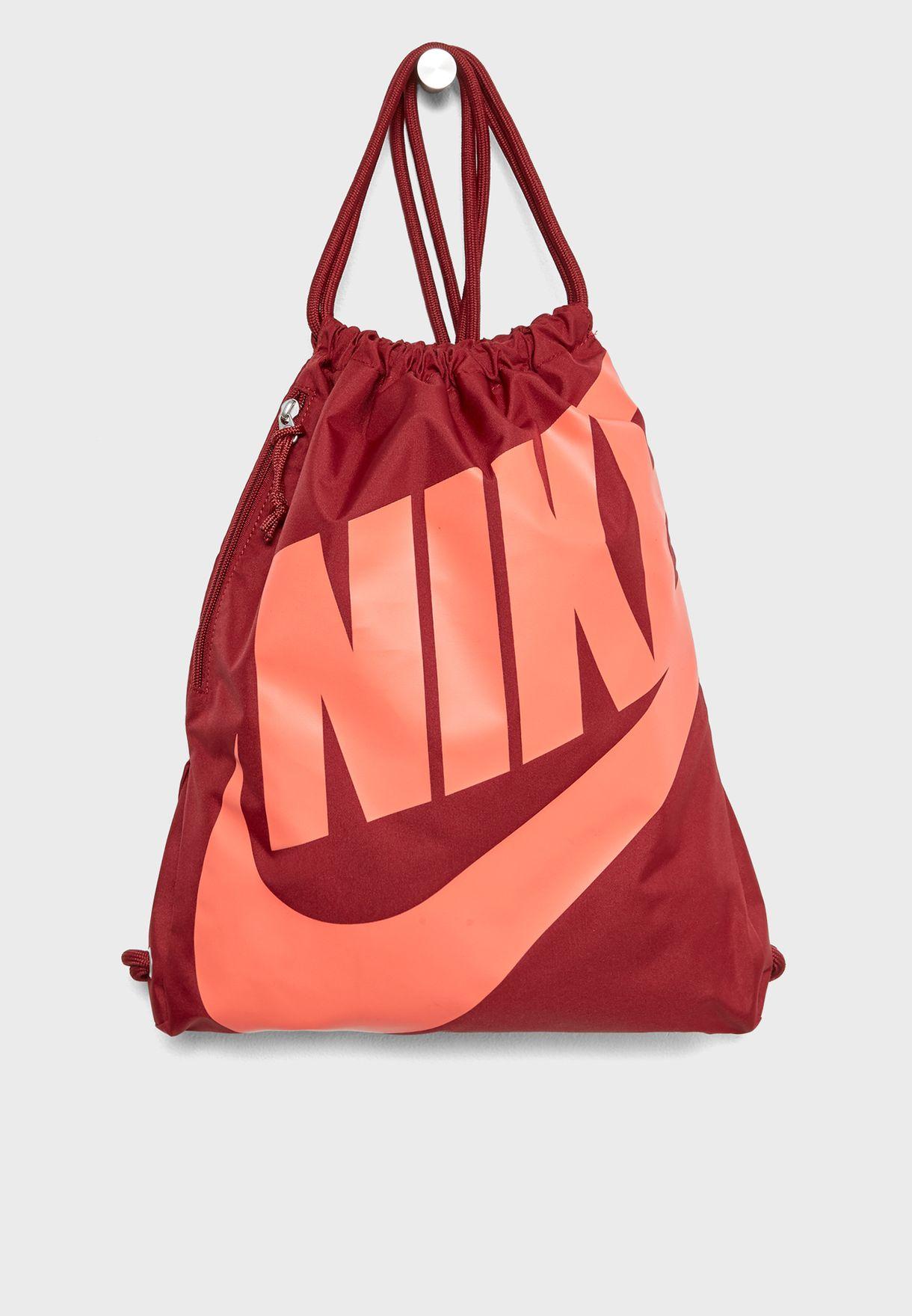 ab7618c97b Shop Nike red Heritage Gym Sack BA5351-678 for Women in UAE ...