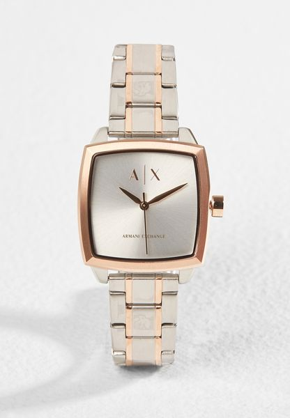 Square Two Tone Watch