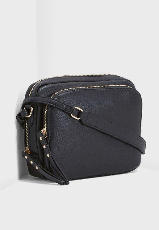 Top & Outer Zip Pocket Crossbody