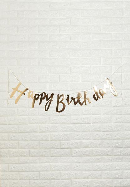 Happy Birthday Foiled Backdrop
