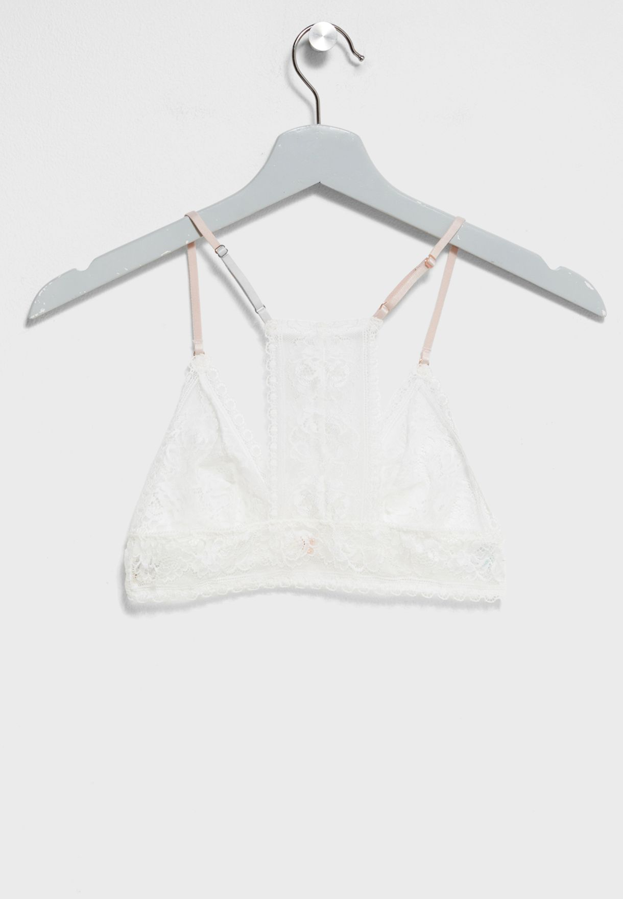 ee7728426c7dc Shop Topshop white Lace Triangle Bra 43T07MIVR for Women in ...