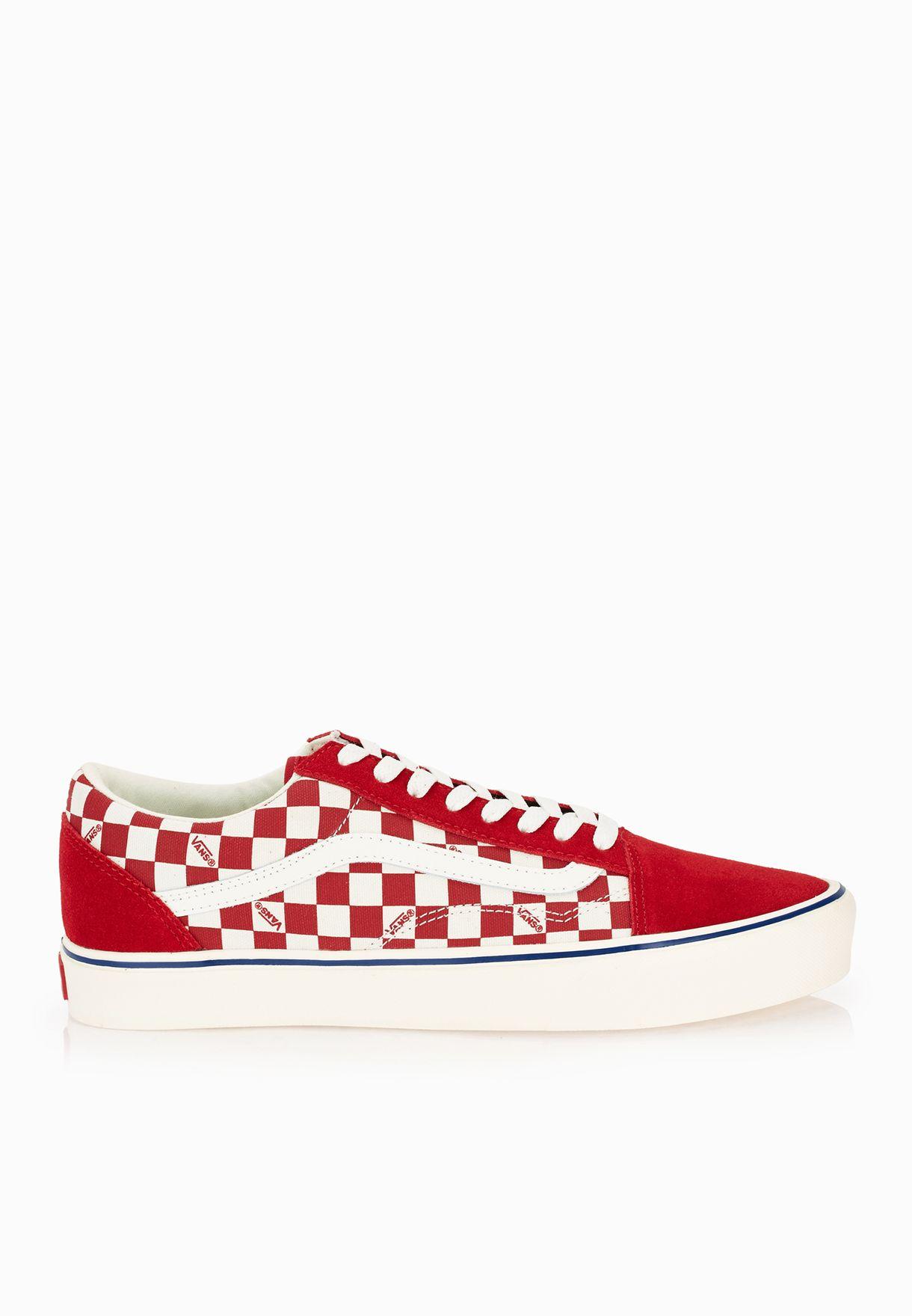 dee13ae96b Shop Vans red Old Skool Lite Checkers Sneakers VAFT-Z5WJYA for Men ...