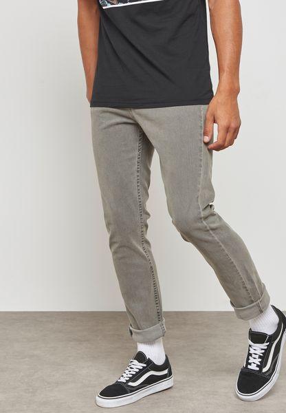 V76 Skinny Fit Rinse Wash Jeans