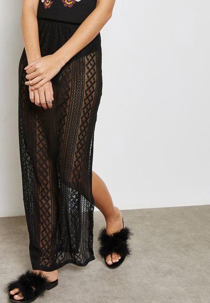 Crochet Sheer Skirt