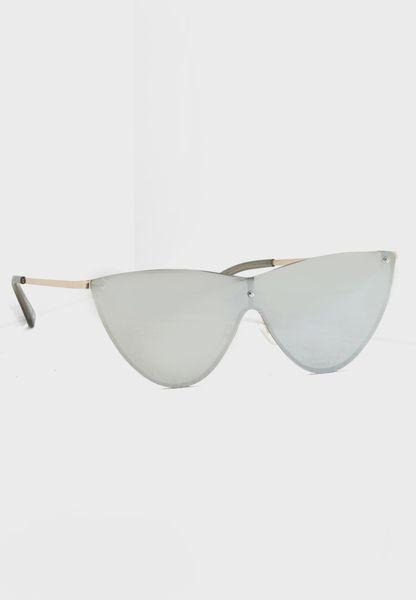 Ybirasien Frameless Cat Eye Sunglasses