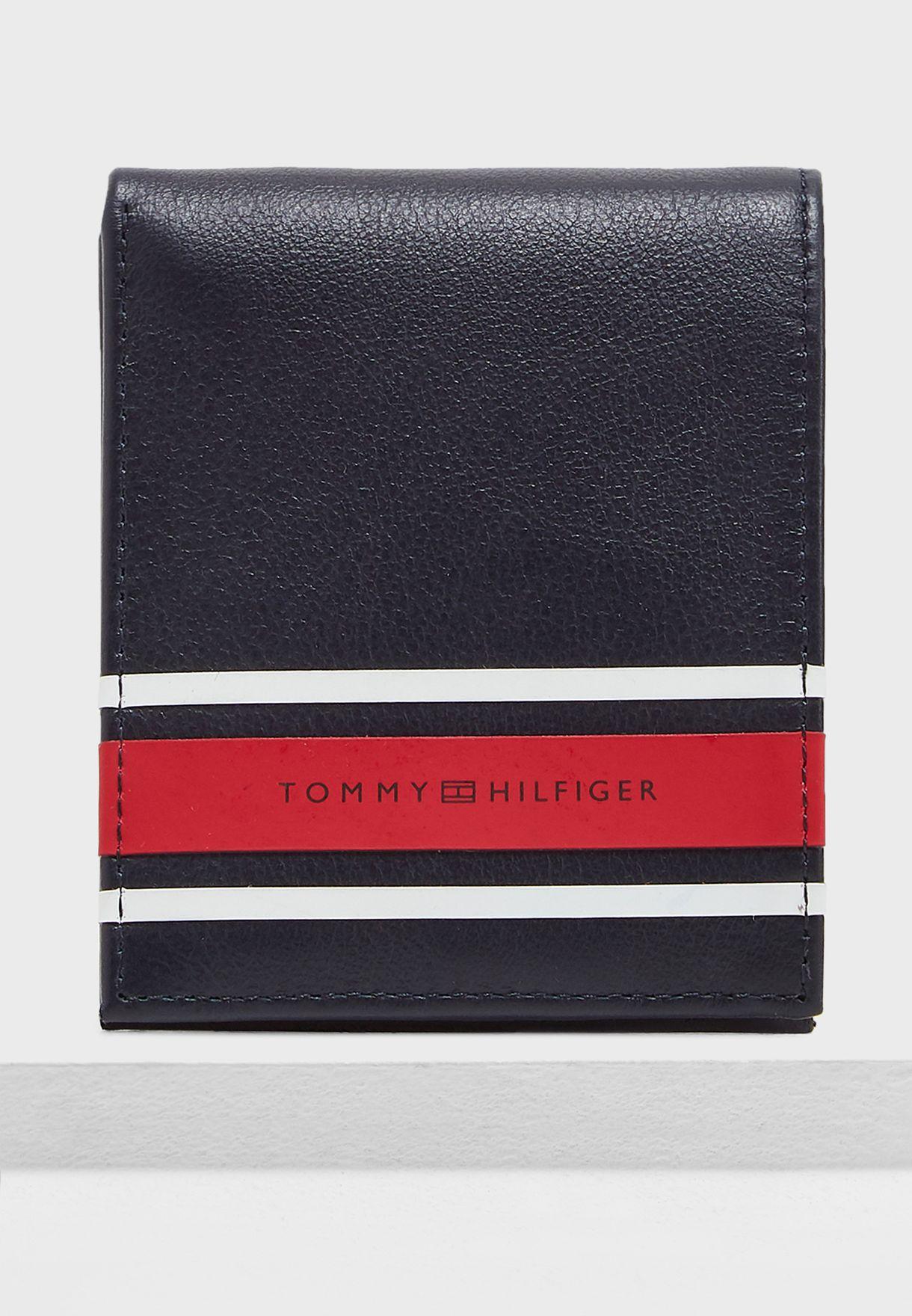 d207cf6de3 Shop Tommy Hilfiger navy Urban Stripe Mini Wallet AM0AM04212 for Men ...