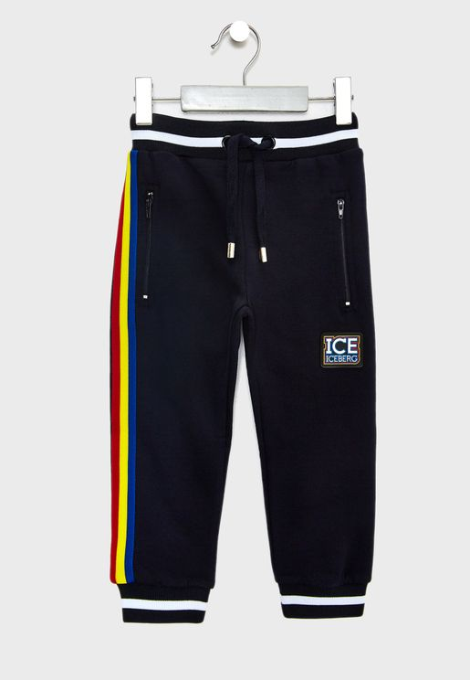 Little Side Striped Sweatpants