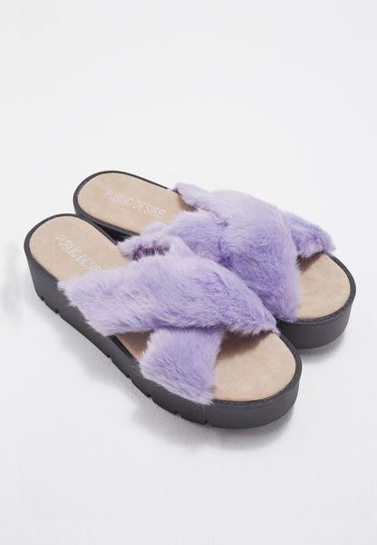 Kia Faux Fur Flatforms